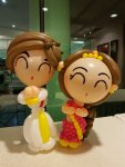 Indian balloon couple for Indian wedding