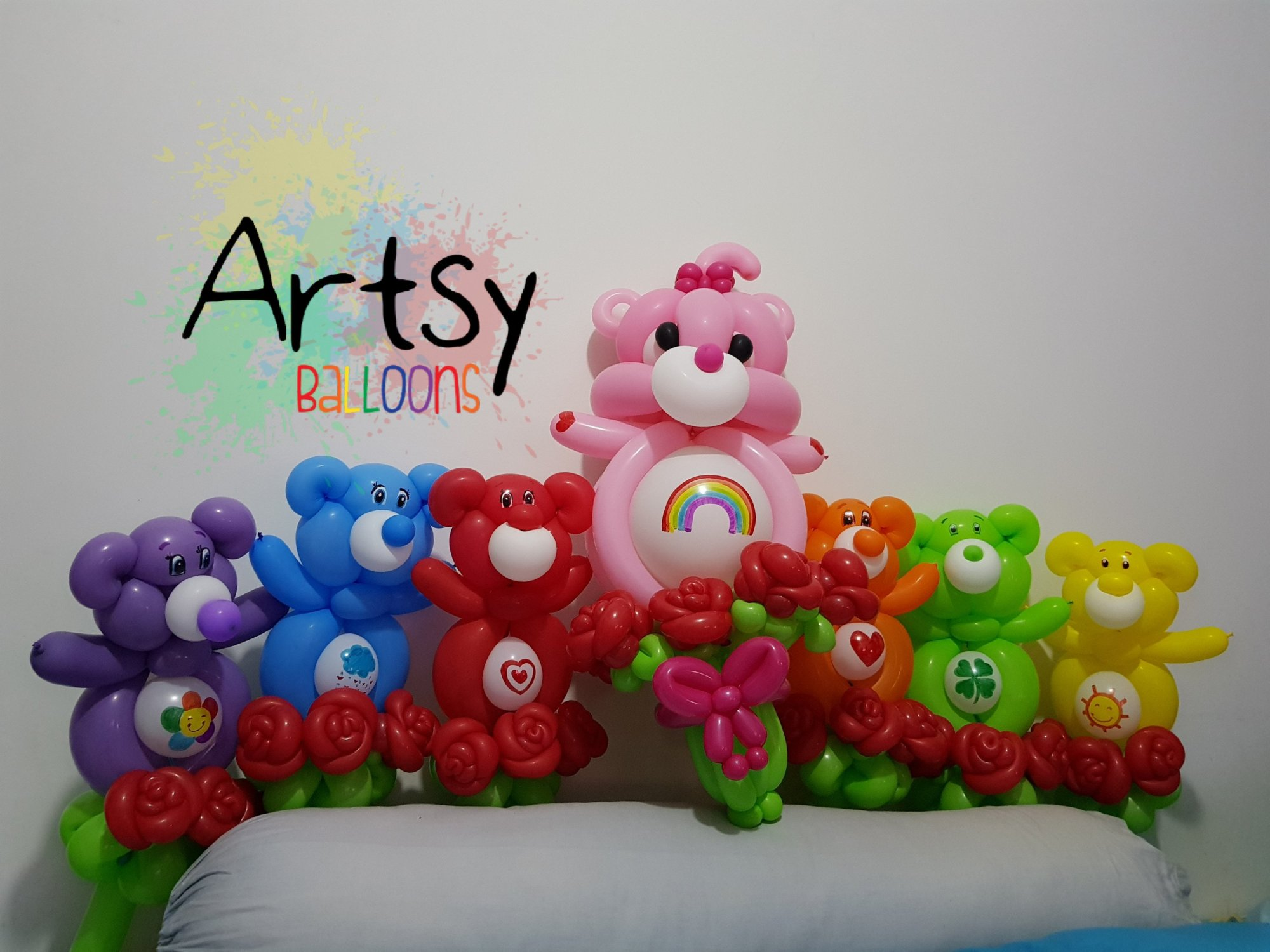 Carebear balloon sculpture
