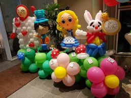 Alice in the Wonderland balloon decorations Singapore