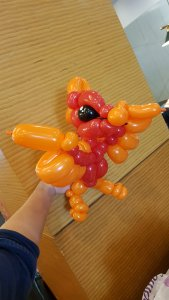 Pheonix balloon sculpture