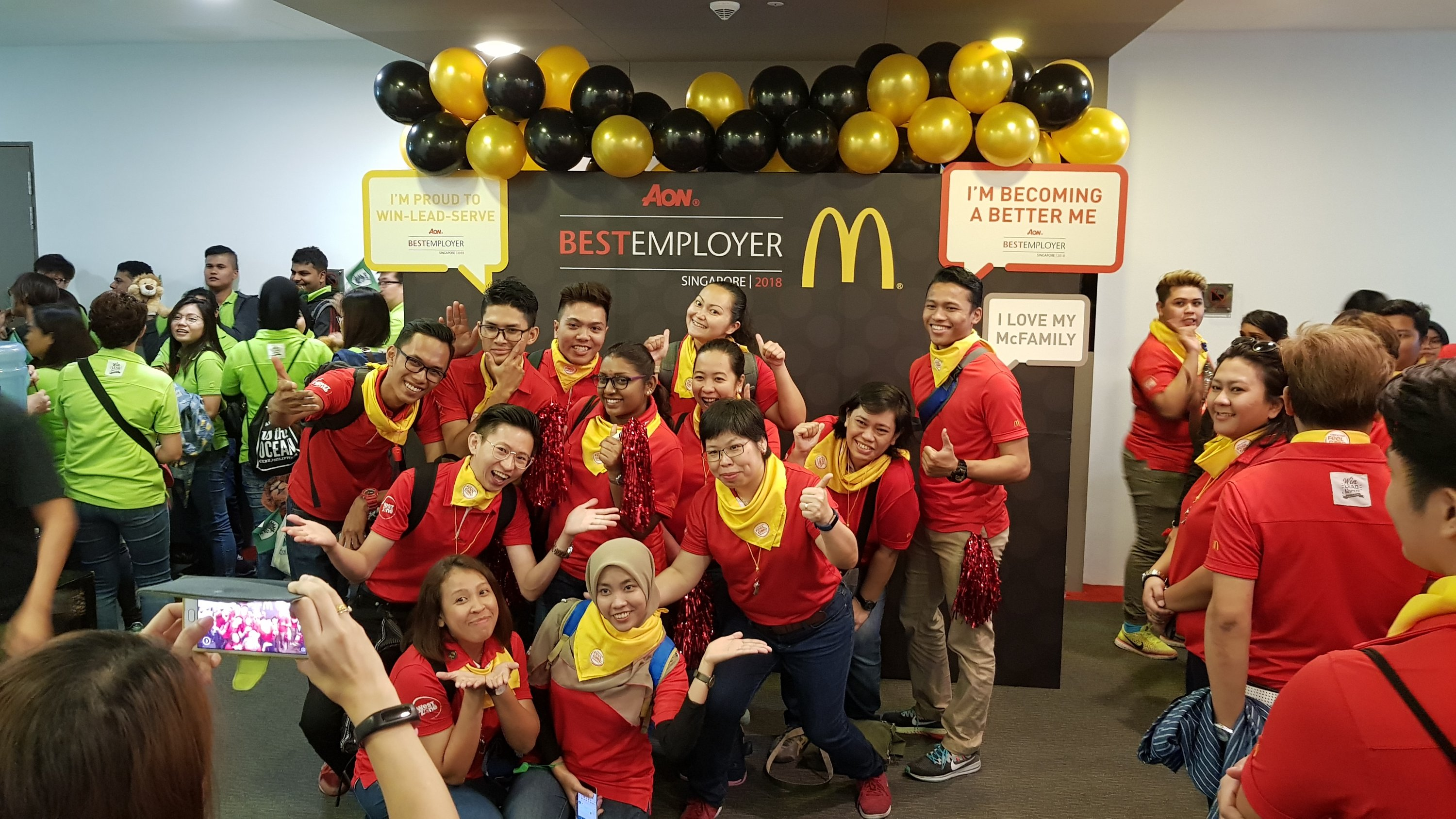 , Stage balloon decorations for McDonalds award ceremony, Singapore Balloon Decoration Services - Balloon Workshop and Balloon Sculpting