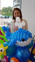 dessert table singapore with balloon decorations underwater theme