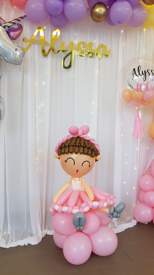 balloon baby girl for 100 days celebration or baby shower