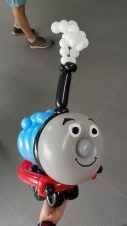Balloon Thomas the Train Sculpture