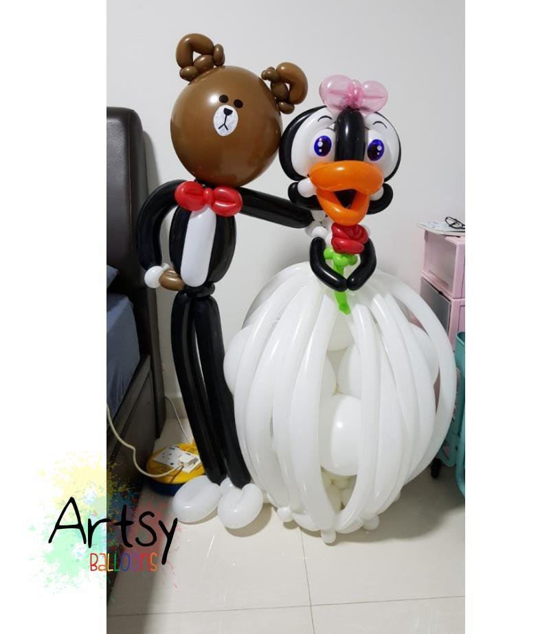 , Customised wedding balloon couple!, Singapore Balloon Decoration Services - Balloon Workshop and Balloon Sculpting