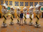 Advance star balloon columns decorations