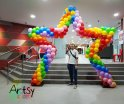 Star balloon arch decorations