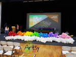 Rainbow balloon decoration arch helium balloons