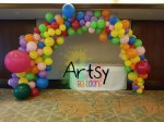 Organic balloon arch decorations