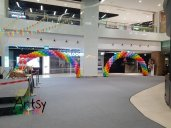 Rainbow balloon arch balloon decorations