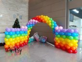 Rainbow balloon arch wall tunnel balloon decorations