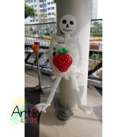 Halloween Balloon decorations skeleton sculpture