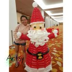 Santa Claus balloon sculpture