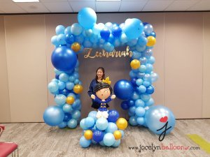 Organic balloon photoframe decorations