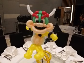 Bowser Balloon sculpture Table Centerpiece