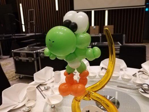 Yoshi Balloon sculpture Table Centerpiece