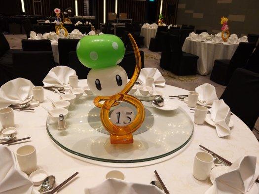 Mushroom Balloon sculpture Table Centerpiece