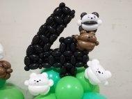 We bare bears balloon sculpture decorations.