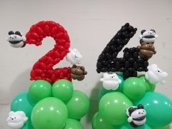 We bare bears balloon sculpture decorations