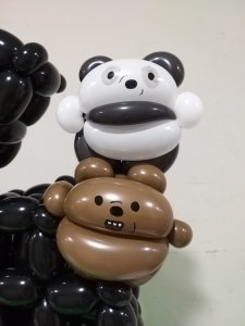 We bare bears balloon sculpture decorations