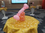 Candy Balloon Table Centerpiece