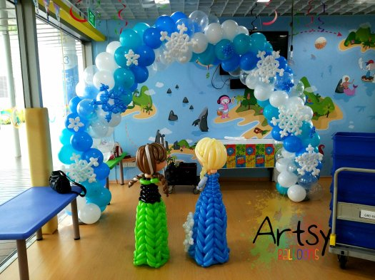 Frozen themed balloon arch decorations