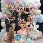 pastel organic balloon photoframe decoration