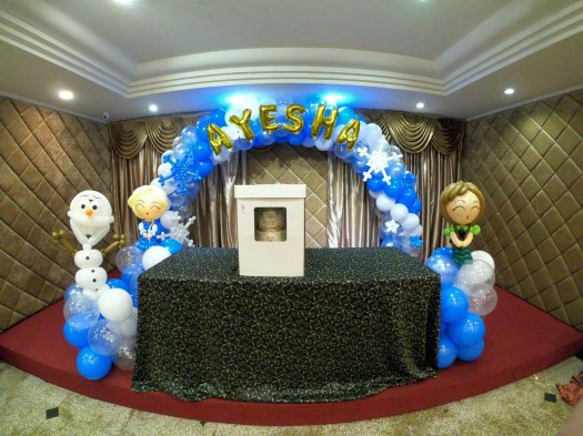 Frozen Elsa Anna Balloon Arch Decorations