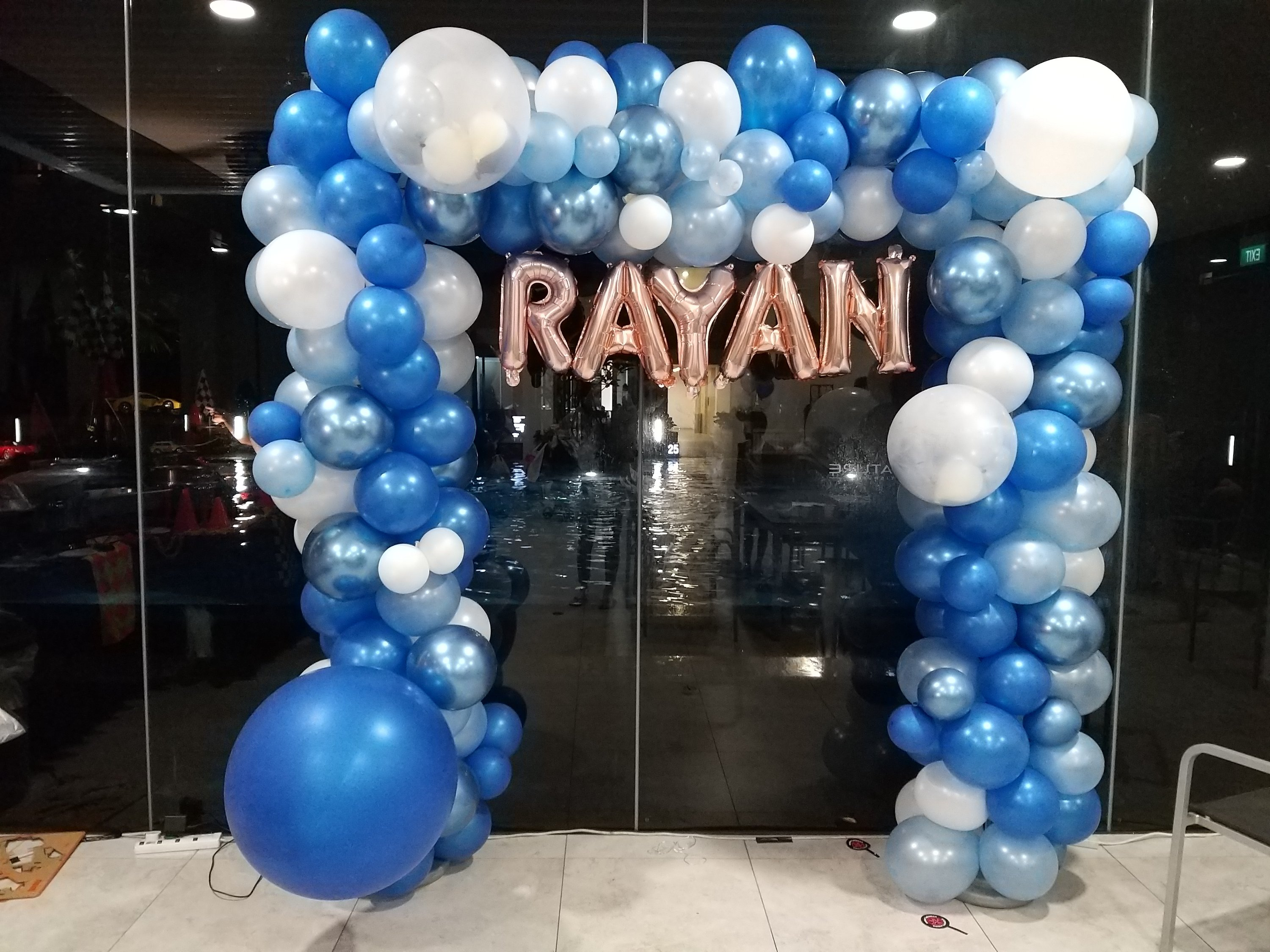 , Organic Balloon backdrop for Rayan!, Singapore Balloon Decoration Services - Balloon Workshop and Balloon Sculpting