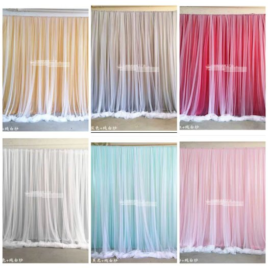 Organic balloon decorations curtains