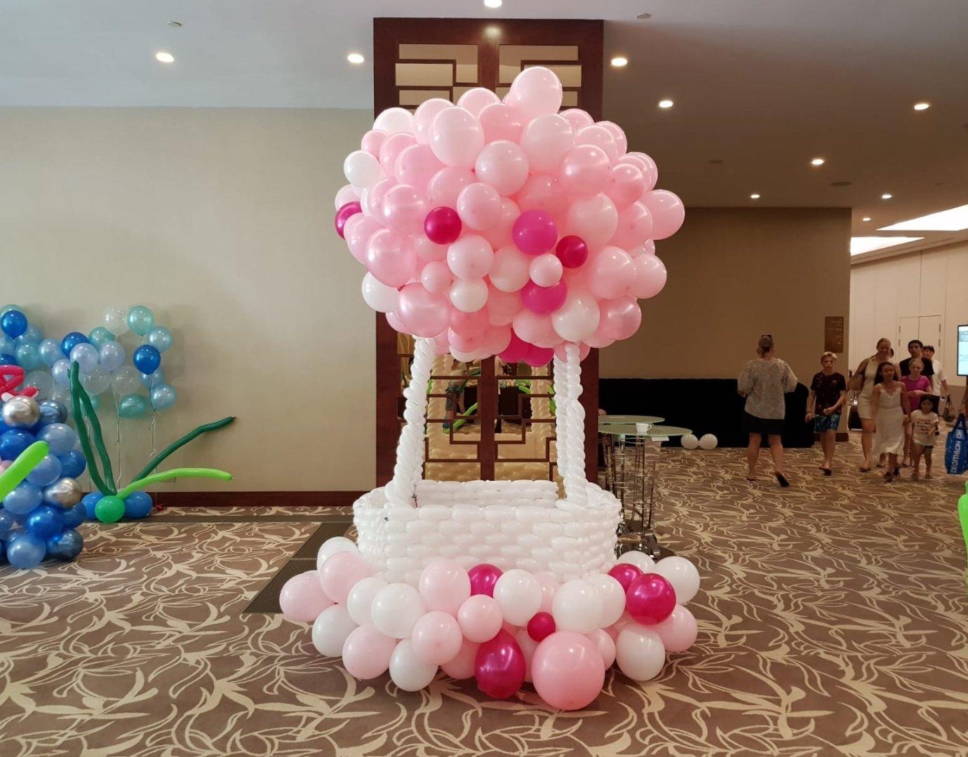 Organic Hot Air Balloon Sculpture Display