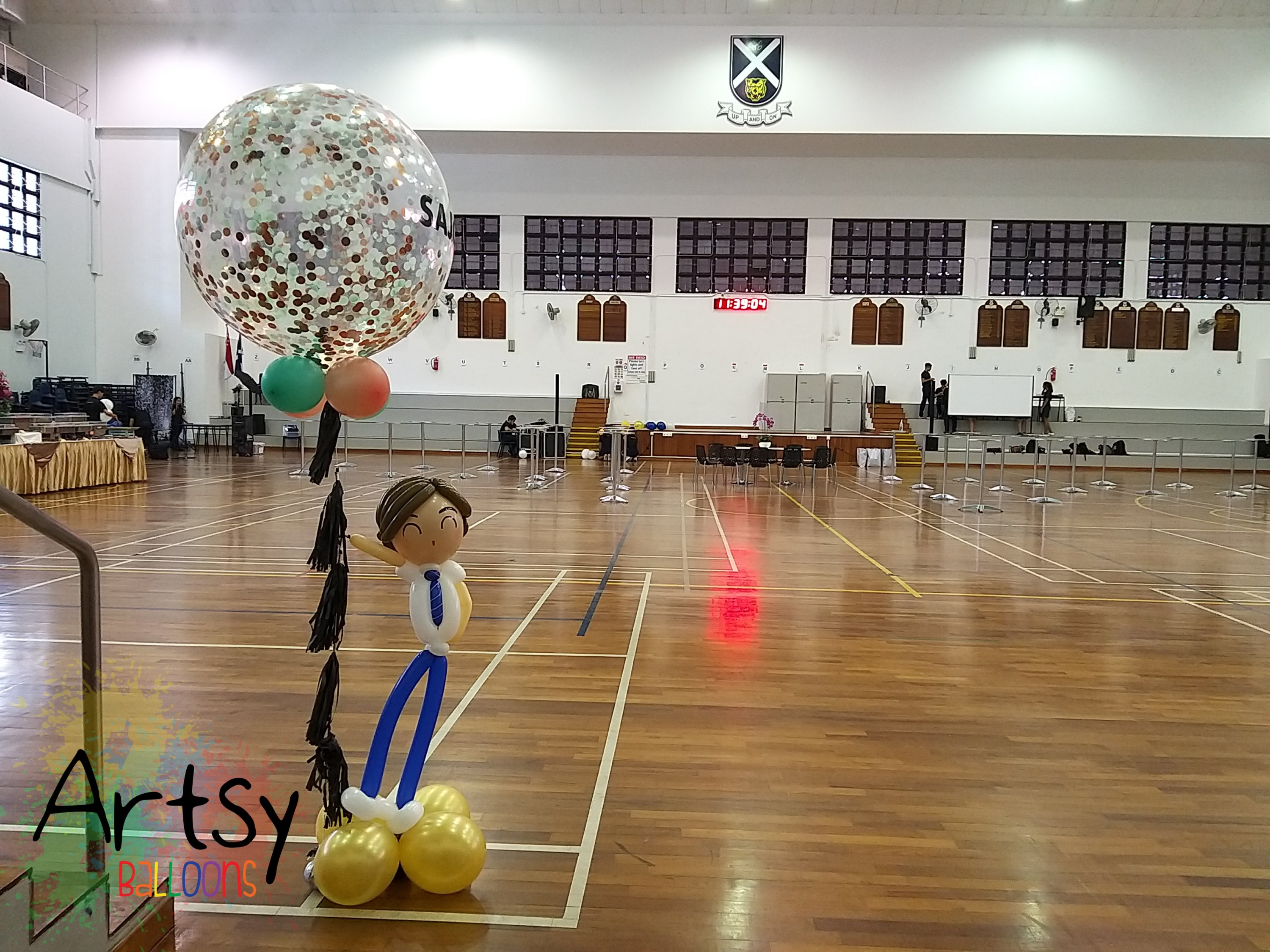 , Graduation balloon decorations for SAJC!, Singapore Balloon Decoration Services - Balloon Workshop and Balloon Sculpting