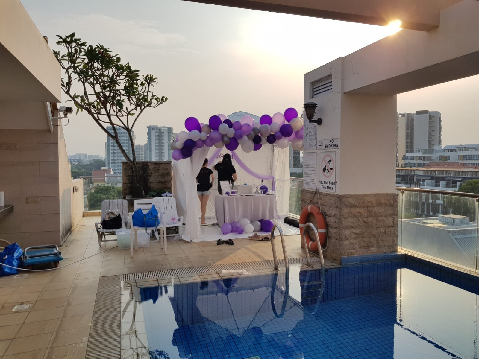 , Organic Balloon Garland For Gazebo Decorations!, Singapore Balloon Decoration Services - Balloon Workshop and Balloon Sculpting