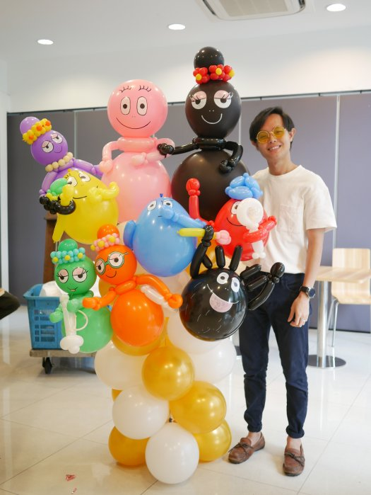 Barbapapa balloon sculpture decorations