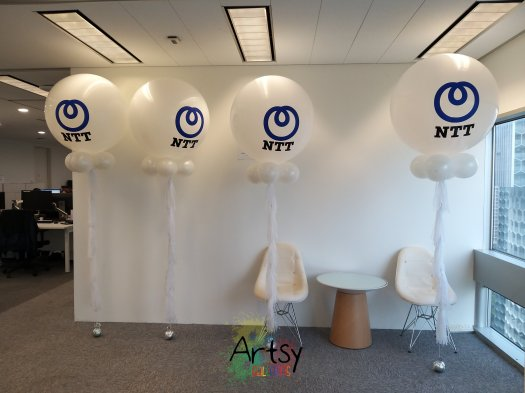 Customised Logo Jumbo Helium Balloons with Tassels