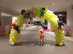 Superhero themed balloon Arch!