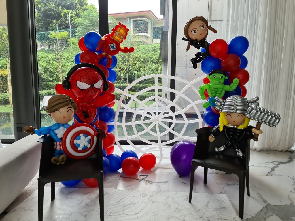 , Marvel Zoom Party Balloon Decorations, Singapore Balloon Decoration Services - Balloon Workshop and Balloon Sculpting